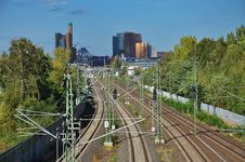 Free Railway Line And Tracks, Berlin, Germany Stock Photos - 26947293