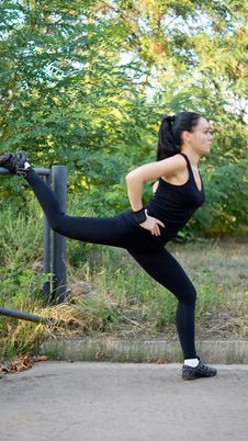 Free Woman Doing Exercises Stock Images - 26949434
