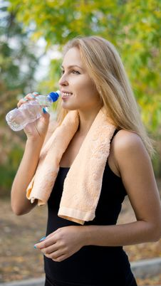Free Athlete Drinking Bottled Water Stock Image - 26949451