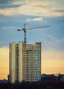 Free Tower Crane And Sunset Royalty Free Stock Photo - 26958465