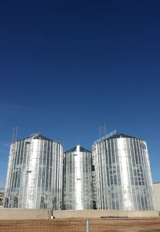 Free Silo On A Sky Background Royalty Free Stock Photo - 26950925
