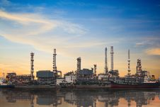 Free Refinery Plant Area At Twilight Stock Images - 26951004