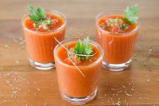 Free Cold Tomato Soup Stock Photography - 26952552