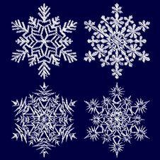 Free Decorative Abstract Snowflake. Royalty Free Stock Photos - 26953338