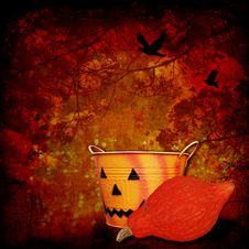 Free Halloween Background With Pumpkins Royalty Free Stock Image - 26953496