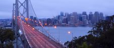 Free Bay Bridge Morning Rush Hour San Francisco Stock Photos - 26953913