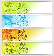 Free Banners: Seasons Stock Photo - 26954130