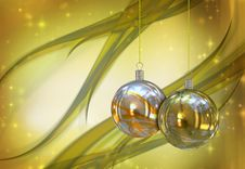 Free Christmas Balls Card Royalty Free Stock Image - 26954936