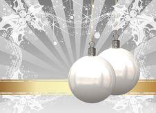 Free Christmas Balls Card Stock Photo - 26955390