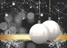 Free Christmas Balls Card Royalty Free Stock Image - 26955486