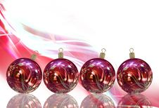 Free Christmas Balls Card Royalty Free Stock Photos - 26955698
