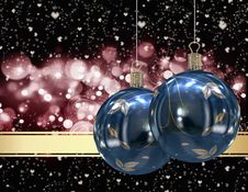 Free Christmas Balls Card Royalty Free Stock Images - 26955759