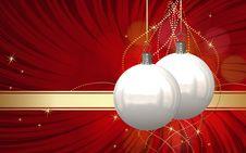 Free Christmas Balls Card Stock Photos - 26955823