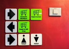 Free Directions And Signs On Cruise Ship Wall Stock Photography - 26955982