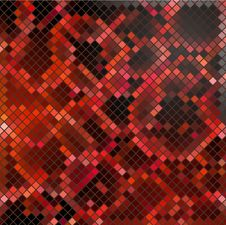 Free Vector Black-red Mosaic Royalty Free Stock Photos - 26957188