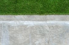 Free Artificial Grass On A Cement Wall Royalty Free Stock Image - 26958056