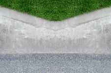 Free Artificial Grass On A Cement Wall Royalty Free Stock Photo - 26958115