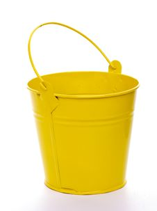 Free Yellow Bucket Stock Image - 26958391