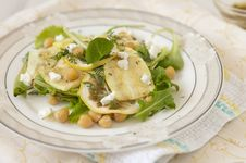 Salad With Chickpeas And Zucchini Royalty Free Stock Images