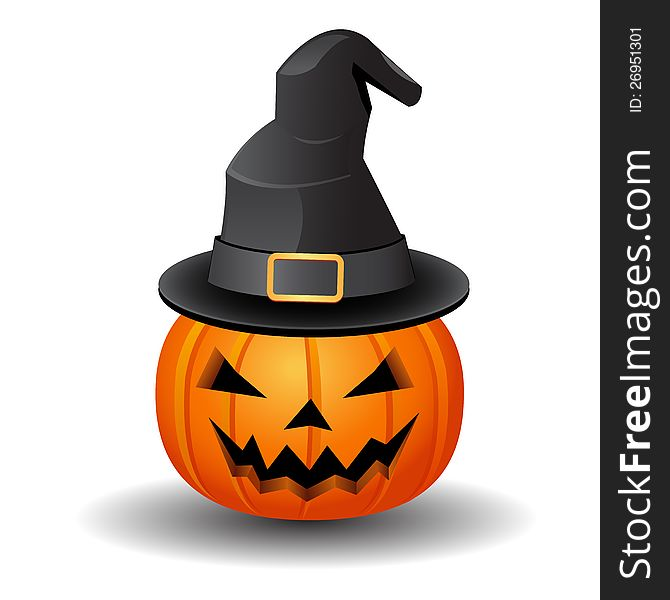 Pumpkin and hat
