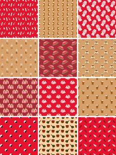 Free Set Of Spa Seamless Patterns Stock Image - 26964171