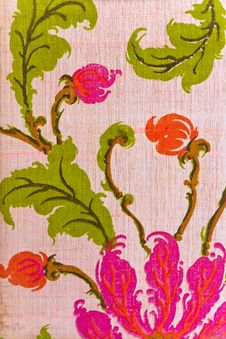 Free Close Up Of Retro Tapestry Fabric Royalty Free Stock Photography - 26964557