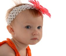 Free Little Girl With Flower On Her Head Stock Image - 26965181
