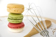 Free Stack Of Macarons With Kitchenware Stock Photos - 26965513