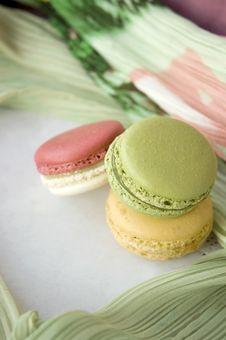 Stack Of Sweet Macarons Stock Photo