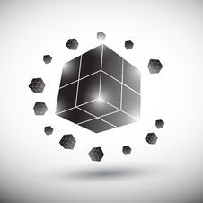 Cube Logo Royalty Free Stock Image