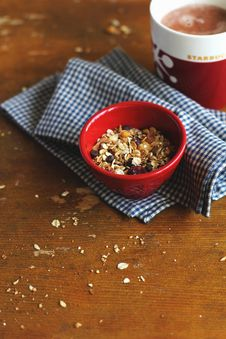 Free Home Made Granola With Dried Fruits And Nuts In A Royalty Free Stock Images - 26966339