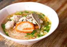 Delicious Cuisine Thai Noodle Stock Photography