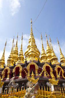 Free Golden Pagodas Stock Photo - 26966500