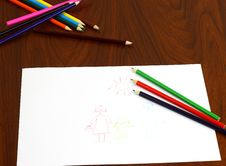 Free Color Pencils Royalty Free Stock Images - 26967269