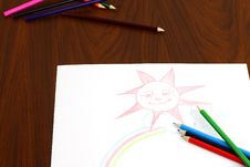 Free Color Pencils Royalty Free Stock Photos - 26967278