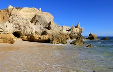Free Western Algarve Beach Scenario, Portugal Stock Images - 26968194