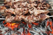 Free Kebabs On Coals Royalty Free Stock Image - 26969386