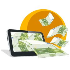 Free Tablet And Money Royalty Free Stock Photography - 26969527