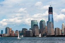 Free Downtown Skyline With Sailboats Stock Photography - 26971262
