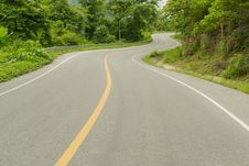 Free Curve Road. Stock Image - 26971431