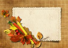 Free Grunge Background With Old Cards And Pencils Stock Photo - 26976070