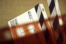 Free Film And Clapboard Royalty Free Stock Photos - 26976418