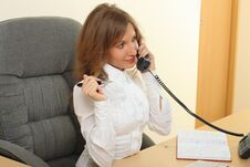 Free Business Woman Speeking Over The Phone Royalty Free Stock Photo - 26981365