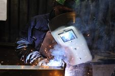 Free Welding Man Royalty Free Stock Images - 26983409