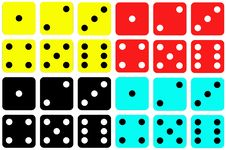 Free Colorful Dice Sets Royalty Free Stock Images - 26985899
