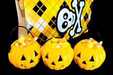 Free Three Jack O Lanterns Stock Photography - 26986382