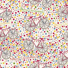 Free Seamless Pattern With Christmas Bike And Gift Box Stock Photography - 26989992