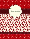 Free Card With Cherries Pattern For Your Design Royalty Free Stock Photos - 26992848