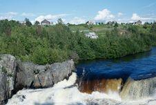 Free Voitsky Padun Waterfall, Karelia Region, Russia Stock Images - 26990004
