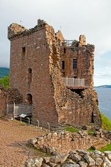 Free Grant Hall At Urqhart Castle. Royalty Free Stock Photo - 26990215